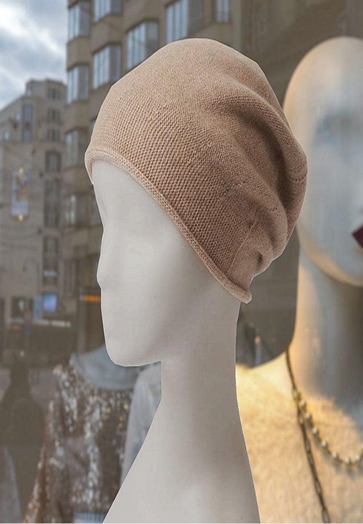 ALICE Oatmeal - 100% pure cashmere hat