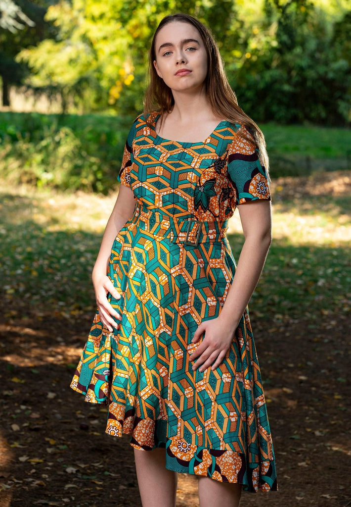 Africanprint Asymmetrical Dress