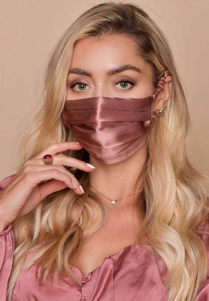 FAB Luxe Silk Face Mask - French Rose