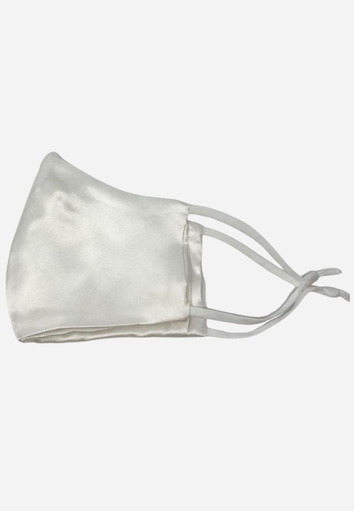 FIT Luxury Silk Face Mask - Cloud Blanc