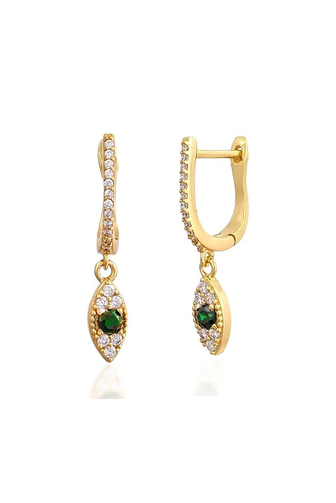 18K Serpent Eyes Earrings