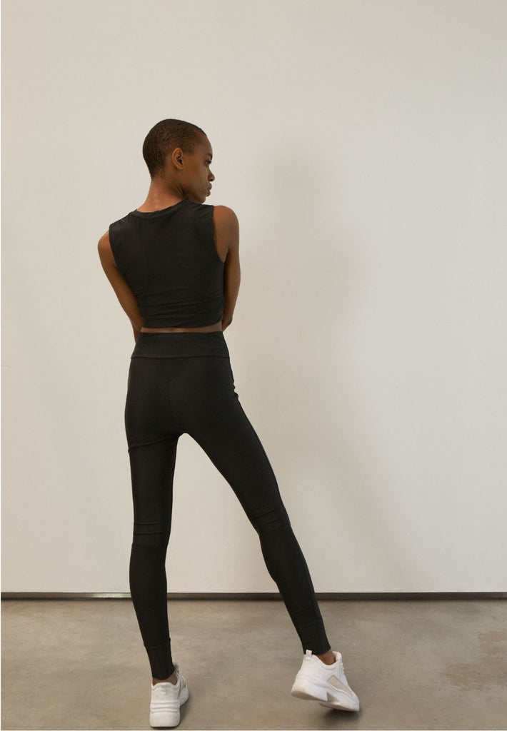 High-Waist Tights Made From Recovered Sea Fishing Nets | Black