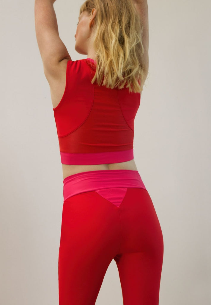 Long-Line Halter Made From Recovered Sea Fishing Nets | Adrenaline Red | Charged Pink