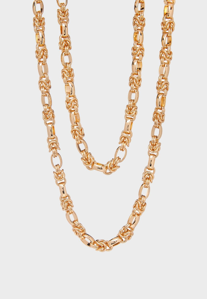 Luxurious handdmade double layer Gold/Silver plated chain
