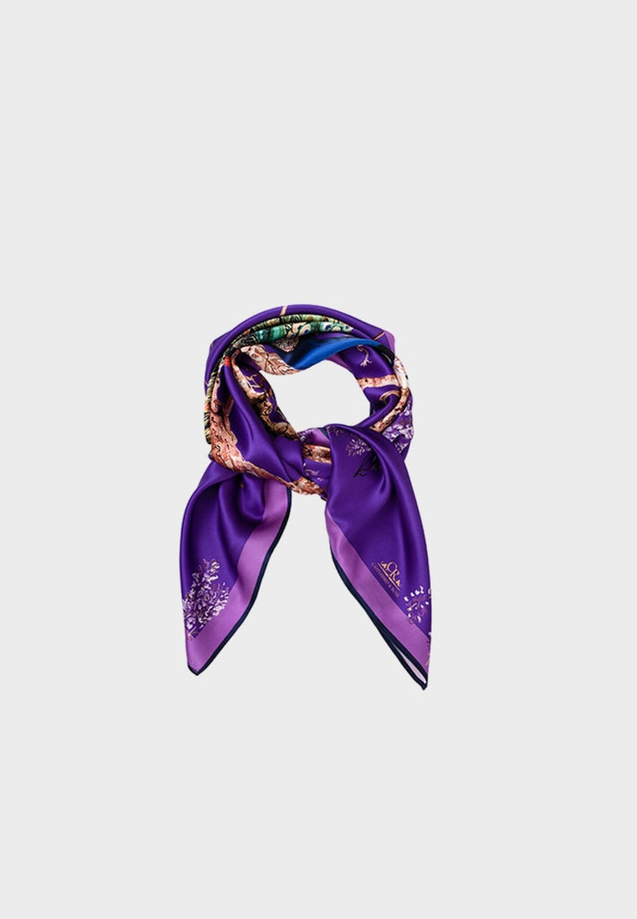 Peacock Scarf Royal Purple