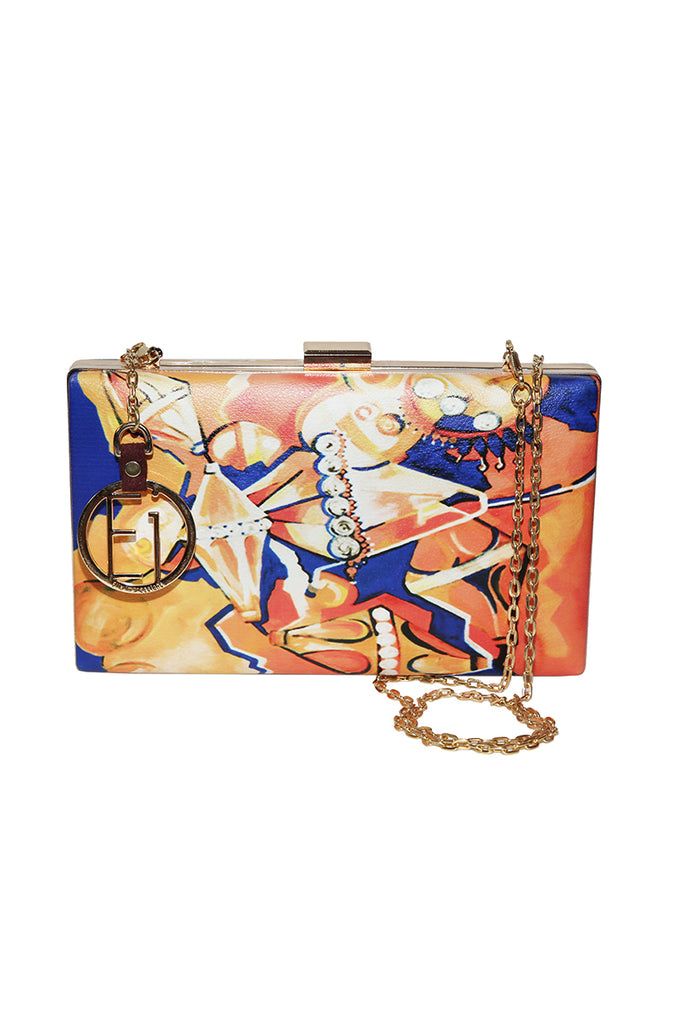 Jewel Gold Art Clutch