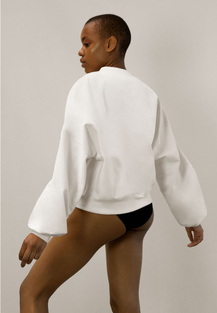 Wide-Sleeve Jumper Made From Woodpulp | Off-White