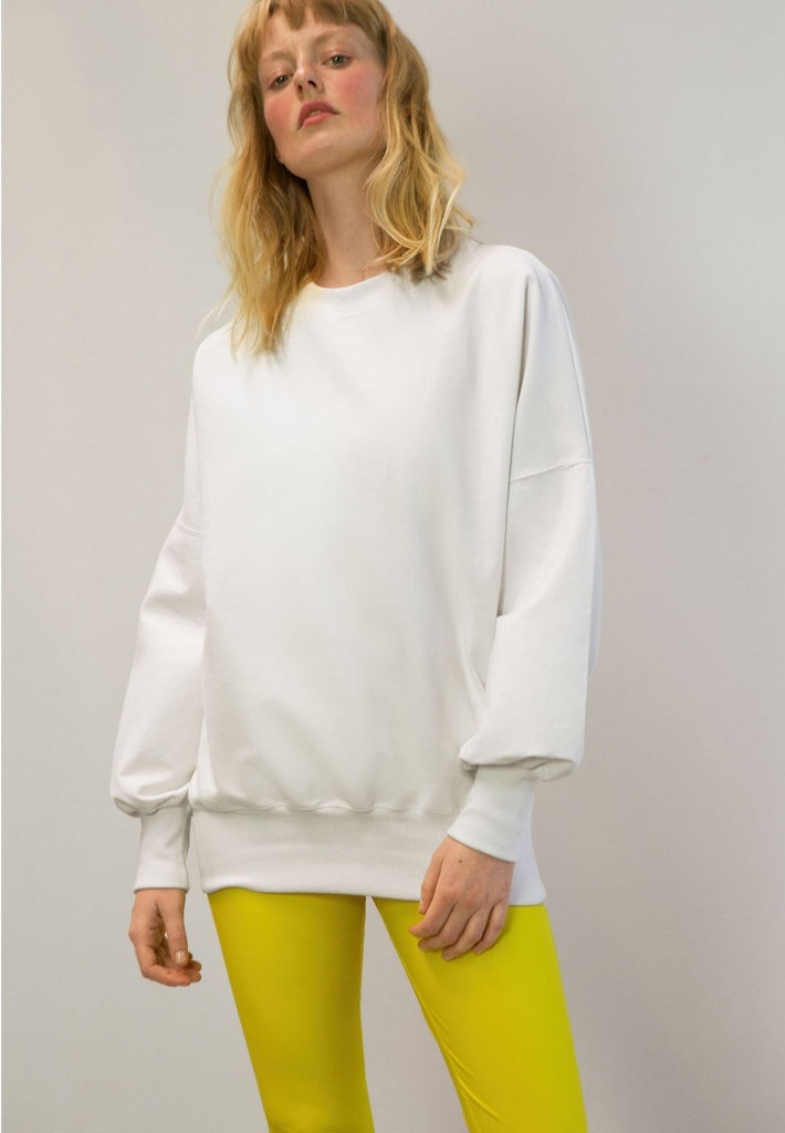 Wide-Sleeve Long Jumper Made From Woodpulp | Off-White