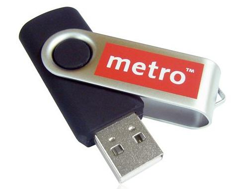 5 Day Express Twist USB Flash One Colour Print