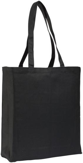 Allington 12oz Cotton Canvas Show Bag - Black Bag - Promotions Only Group Limited