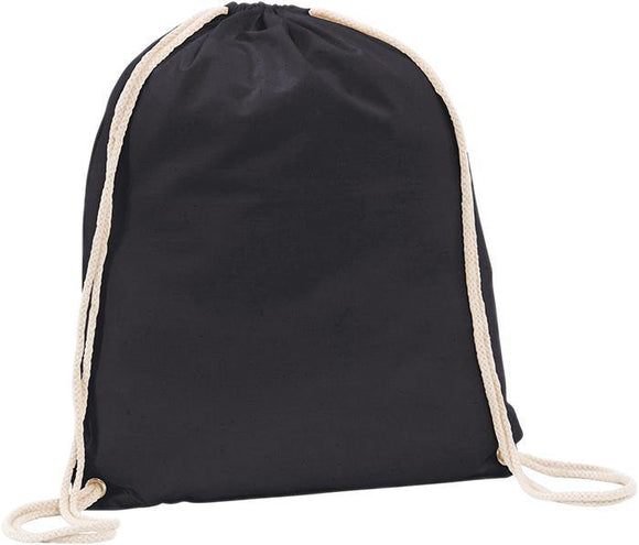 Westbrook 5oz Cotton Drawstring Black Bag - Promotions Only Group Limited