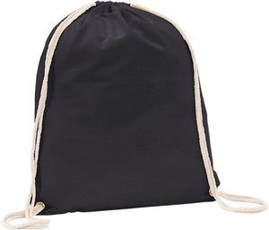 Westbrook 5oz Cotton Drawstring Black Bag Full Colour Print - Promotions Only Group Limited