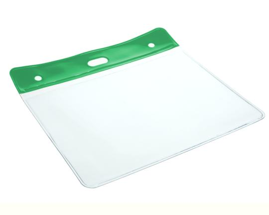 Colour Coded PVC Clear Plastic Card Holder - 10cm by 8cm