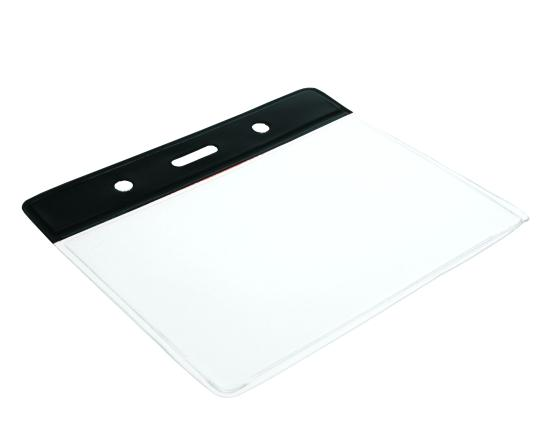 Colour Coded PVC Clear Plastic Card Holder - Credit Card Size