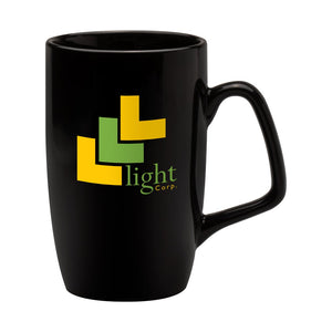 Corporate Earthenware Mug in Black - Promotions Only Group Limited