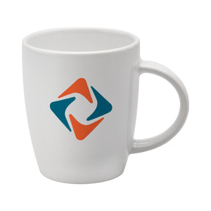 Darwin Earthenware Mug in White - Promotions Only Group Limited