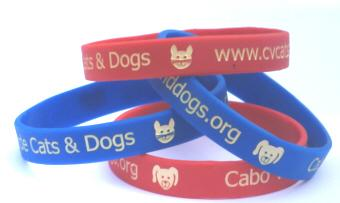 Debossed Colour Filled Silicone Wristband