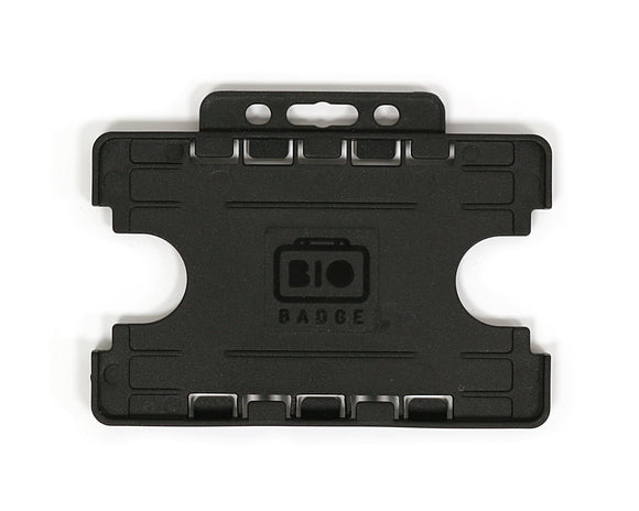 Dual-Sided BIOBADGE Open Faced ID Card Holders - Landscape