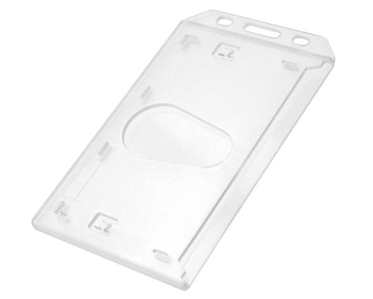 Enclosed Rigid Polycarbonate Card Holders – Portrait