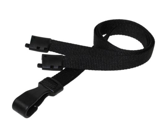 Essential Range 10mm Unbranded Lanyard in Black