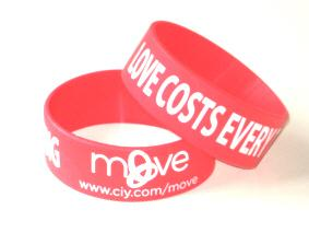 Extra Wide Printed Silicone Wristbands