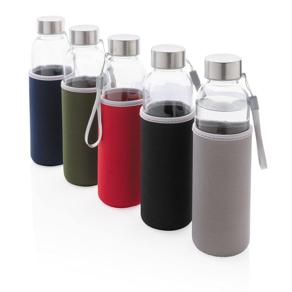 Glass Bottle with Neoprene Sleeve