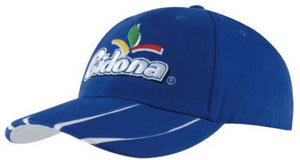 Laminated Two-Tone Peak Cap - Promotions Only Group Limited