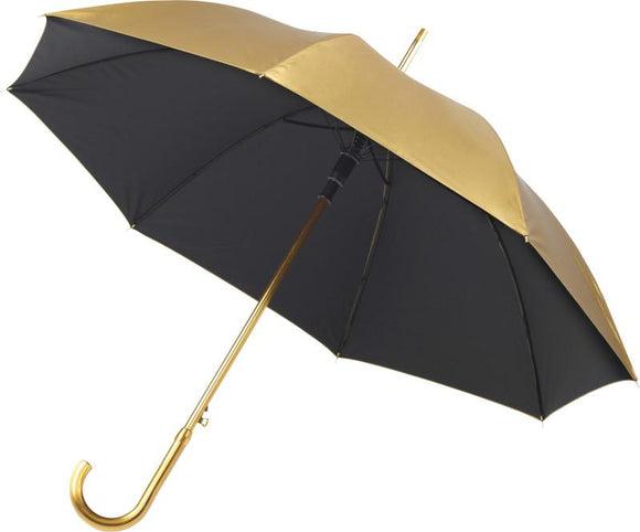 Metallic Gold or Silver Double Layered Walking Umbrella - Promotions Only Group Limited