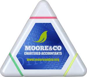 Triangular Highlighter Full Colour print - Promotions Only Group Limited