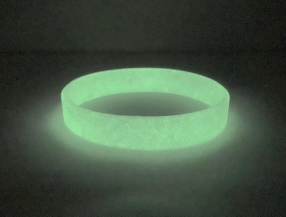 Glow in the Dark Debossed or Embossed Silicone Wristbands