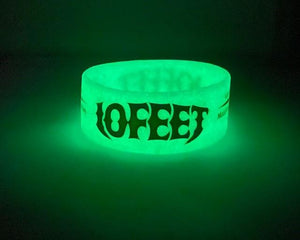Extra Wide Glow in the Dark Debossed Colour Filled Silicone Wristbands