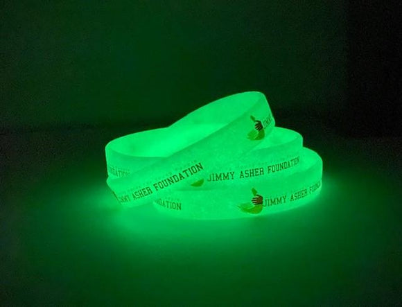 Glow in the Dark Printed Silicone Wristbands