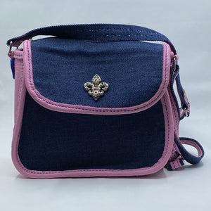 Purse (Navy and Pink