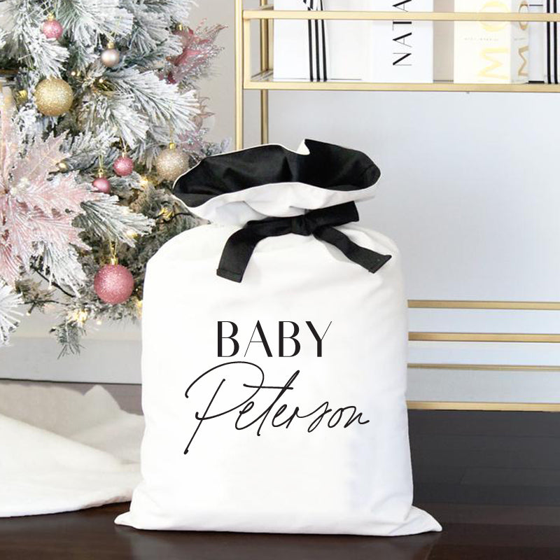 Luxe Personalised Christmas Sack- Title