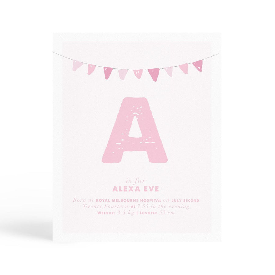 Personalised Nursery Print - Banner - Miss Poppy Design