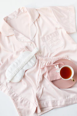 Personalised Short Pyjamas Set- Blush