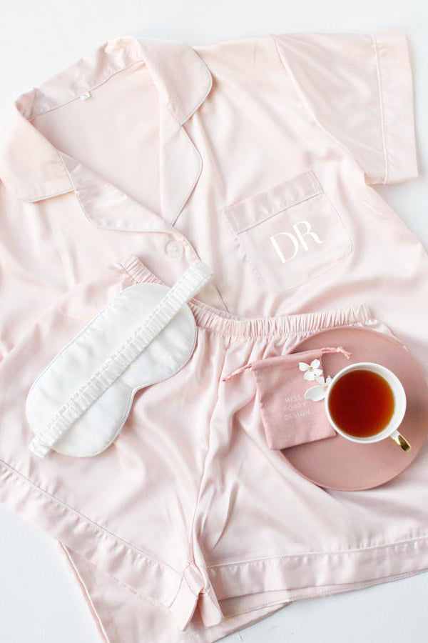 Short Pyjamas Set- Blush