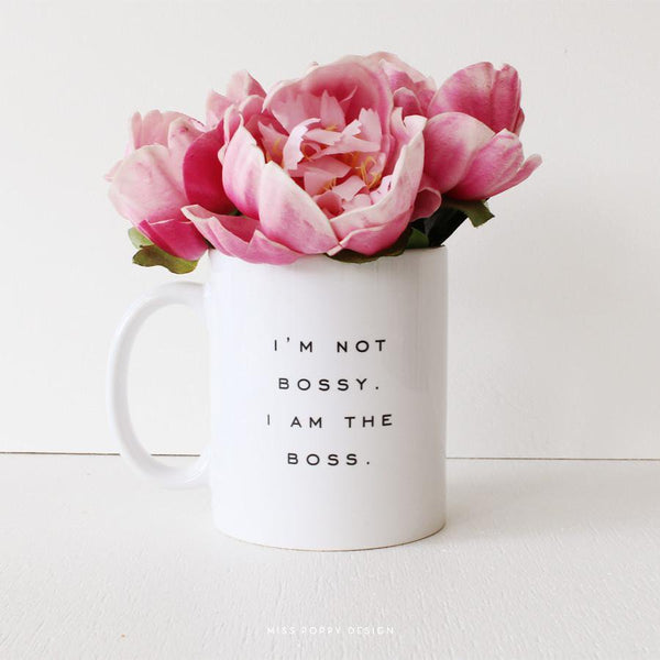 Bossy Mug - Miss Poppy Design