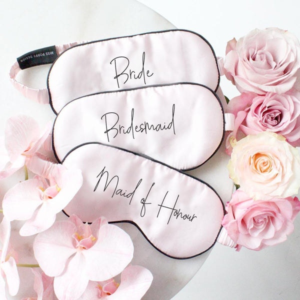 Bridal Party Silk Eye Mask - Miss Poppy Design