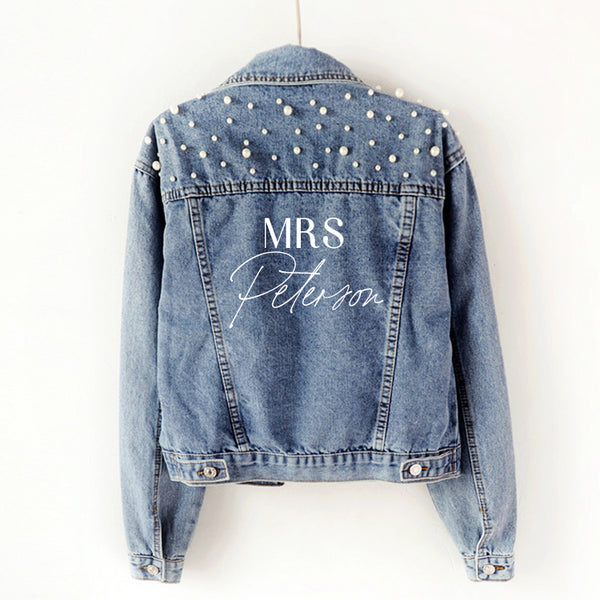 MRS - Personalised Denim Jacket