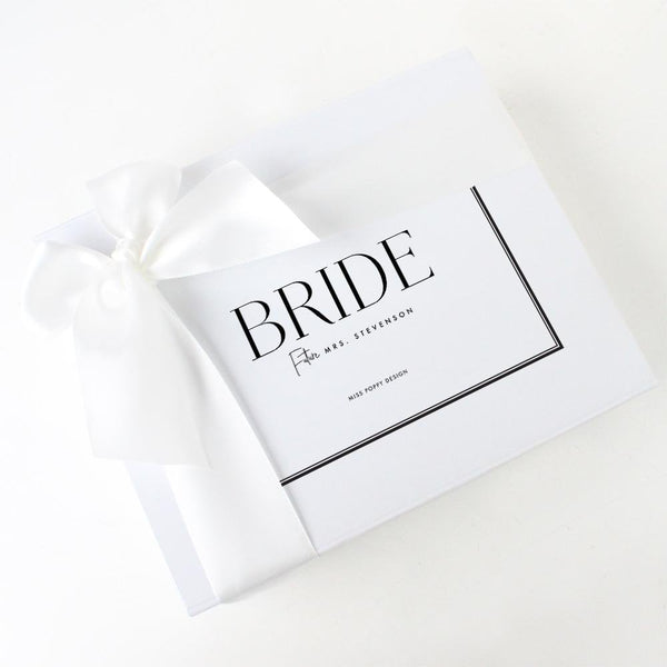 Bride Personalised Gift Box- Rectangle