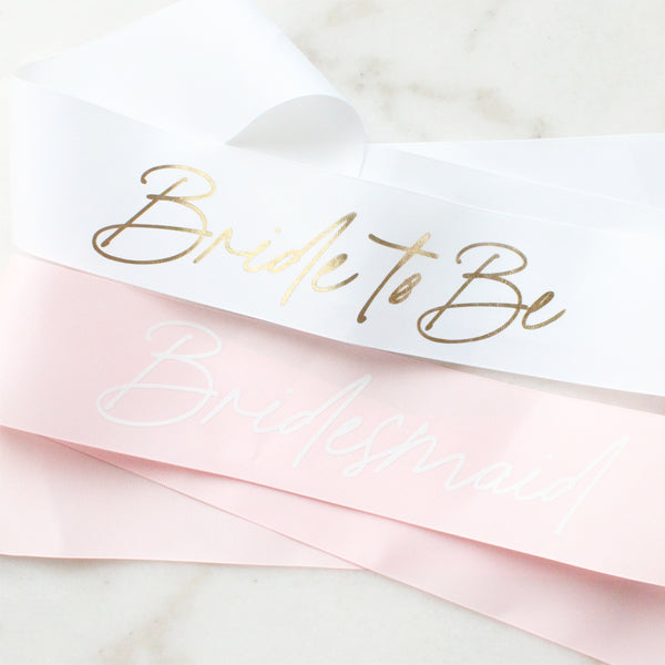 Customised Bride-To-Be Sashes