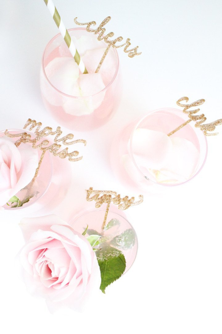 Celebrate - Cocktail Stirrers - Glitter