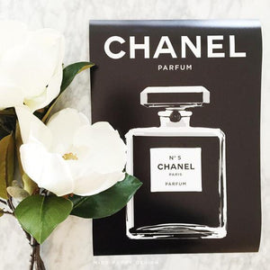 Chanel No 5 Wall Art Poster Print - Miss Poppy Design