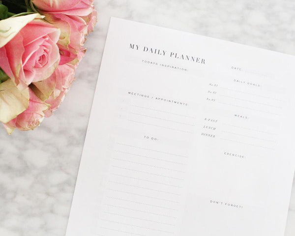 DAILY PLANNER- PRINTABLE - Miss Poppy Design