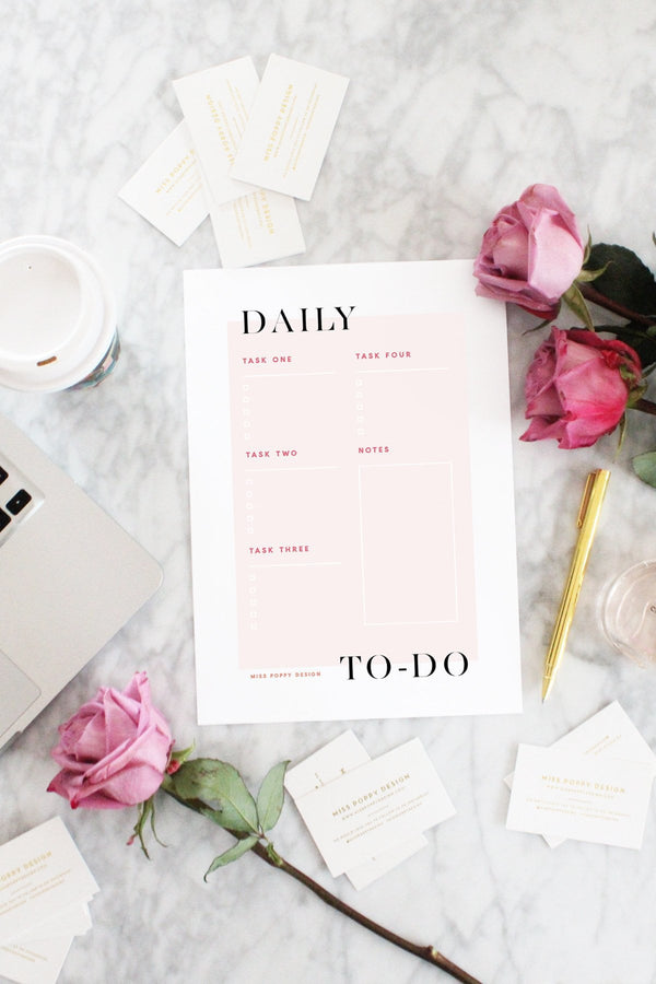 FREEBIE- DAILY TO DO - Miss Poppy Design