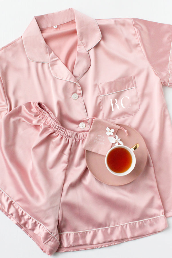 Short Pyjamas Set- Dusty Rose