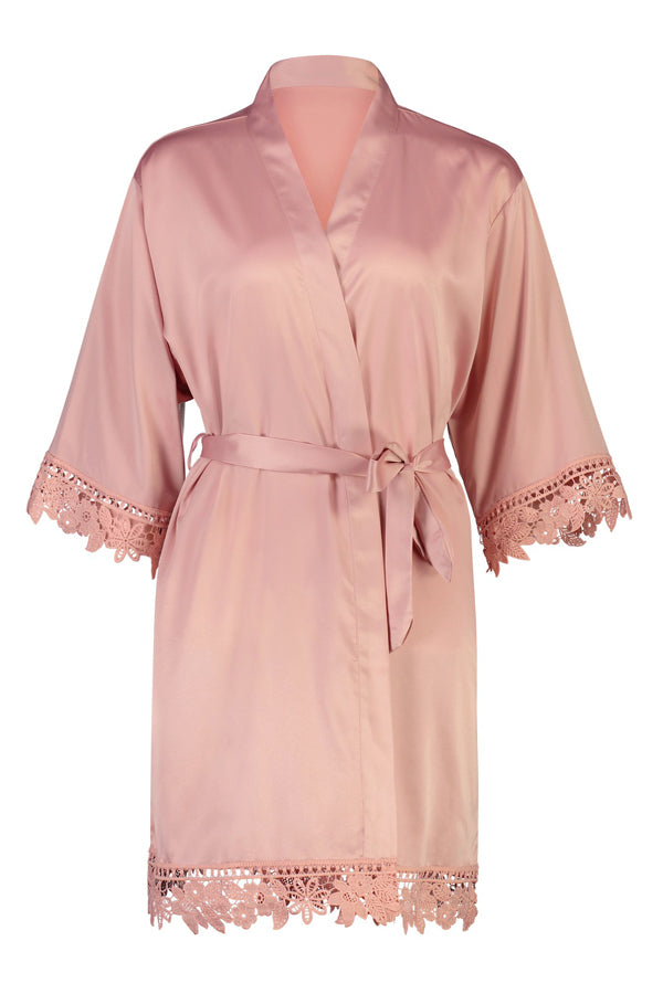 Personalised Lilah Robe Dusty Rose