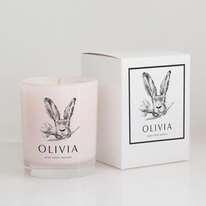 Easter Soy Candle- Bunny - Miss Poppy Design
