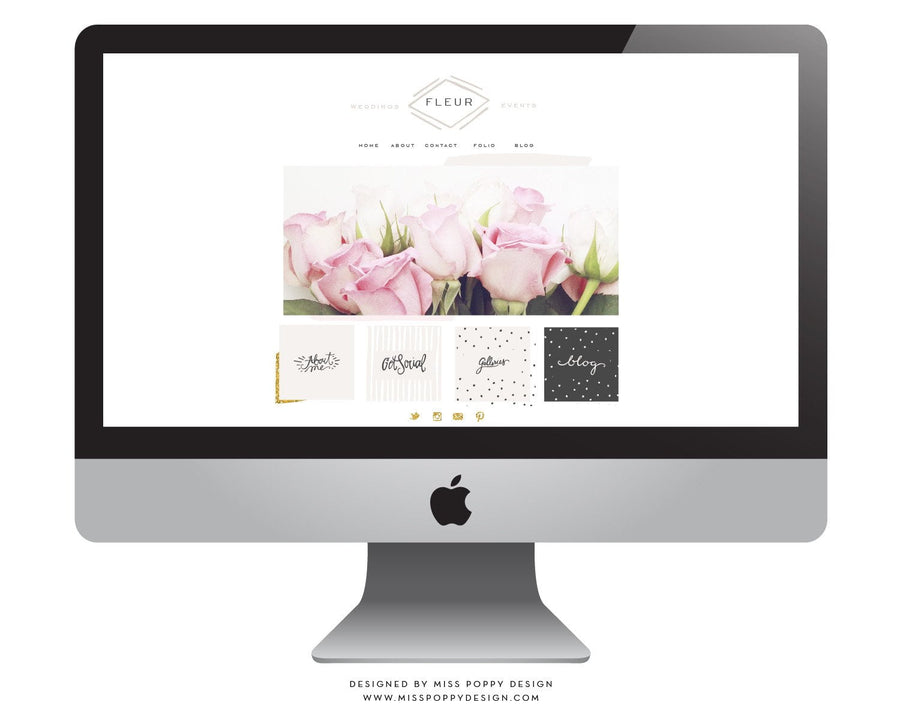 FLEUR- ULTIMATE WEB + BLOG PACKAGE- INSTANT DOWNLOAD
